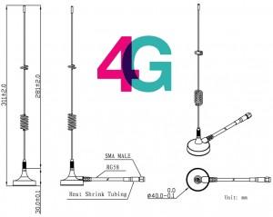 Dimenssions Antenne Magnétique 4G